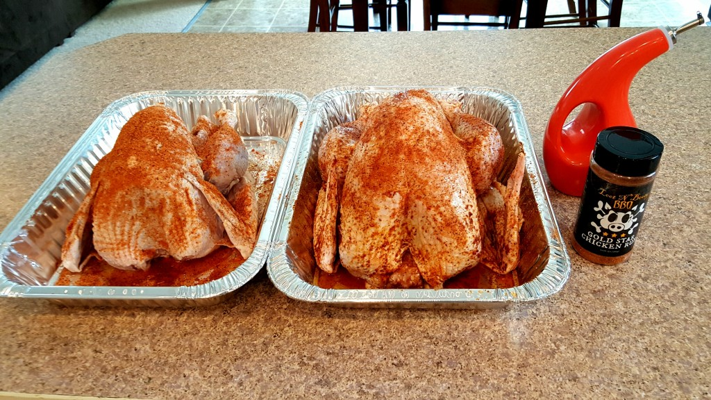 Resting birds about 30-45 minutes before smoking.