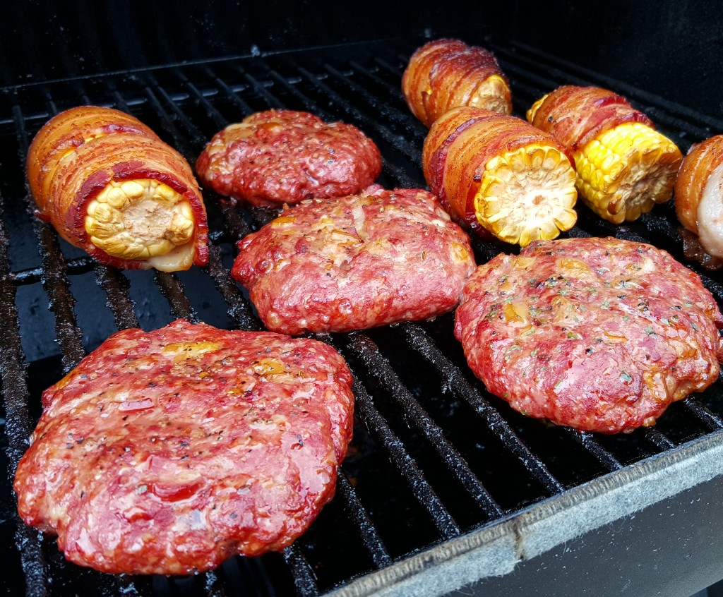 Oh look, I even smoked some bacon-wrapped corn! (I'll get to that another time)
