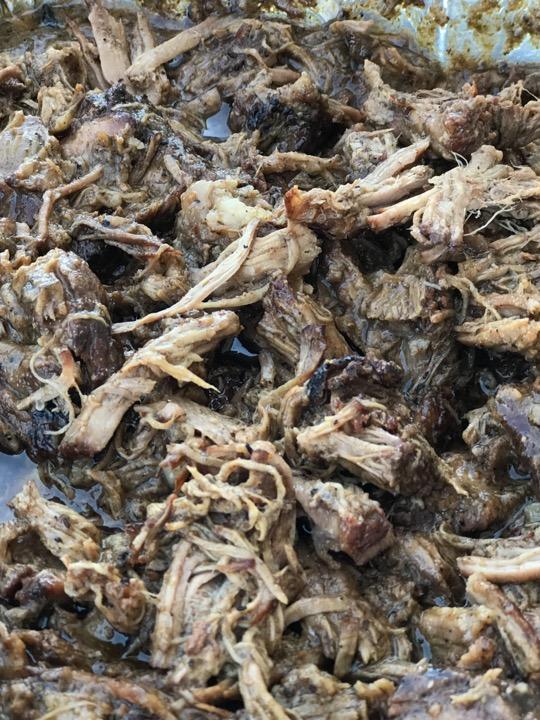 barbacoa shredded and ready to eat.